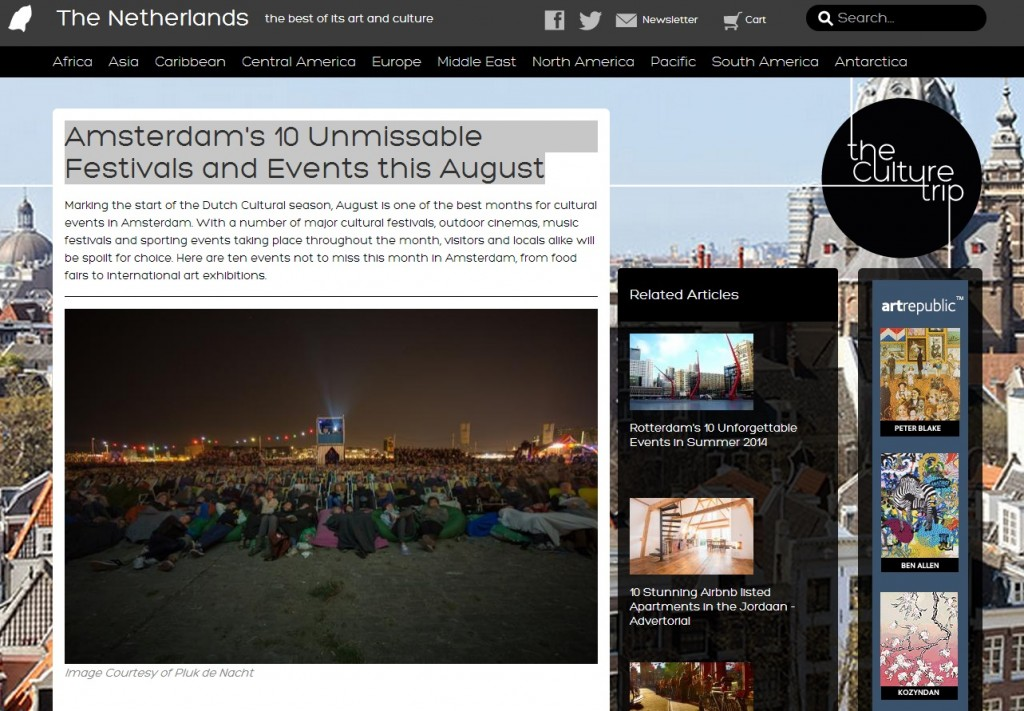 The Culture Trip - Amsterdams 10 Unmissable Festivals and Events this August